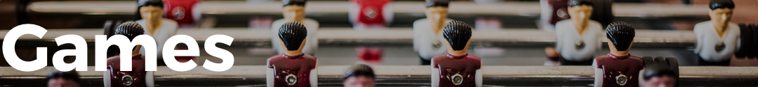 Games Banner with image of fooseball table