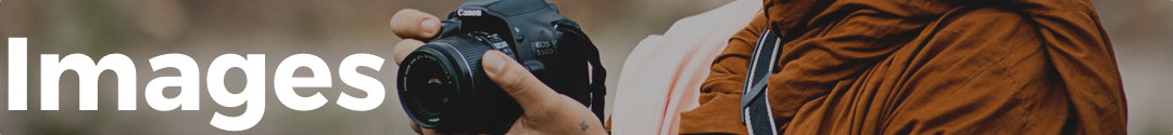 Image banner with monk holding camera
