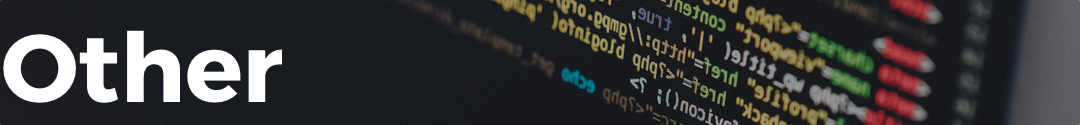 Other banner with image of computer code